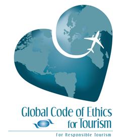 Logo des Globalen Ethikkodex der UNWTO