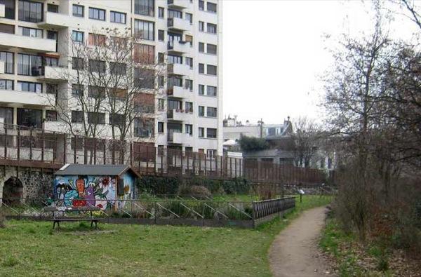 Fußgängerweg zwischen Bois de Vincennes und der Bastille
