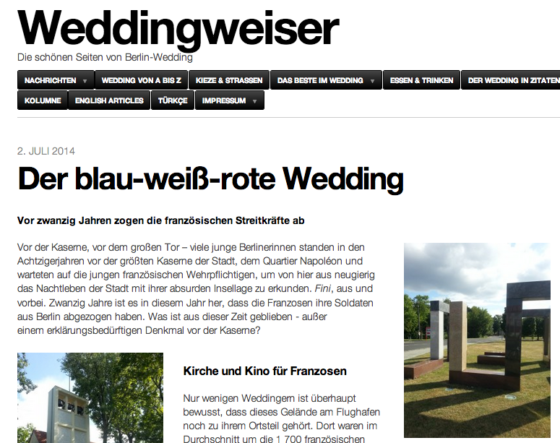 Wedding Rot-Weiss-Blau Weddingweiser Screenshot