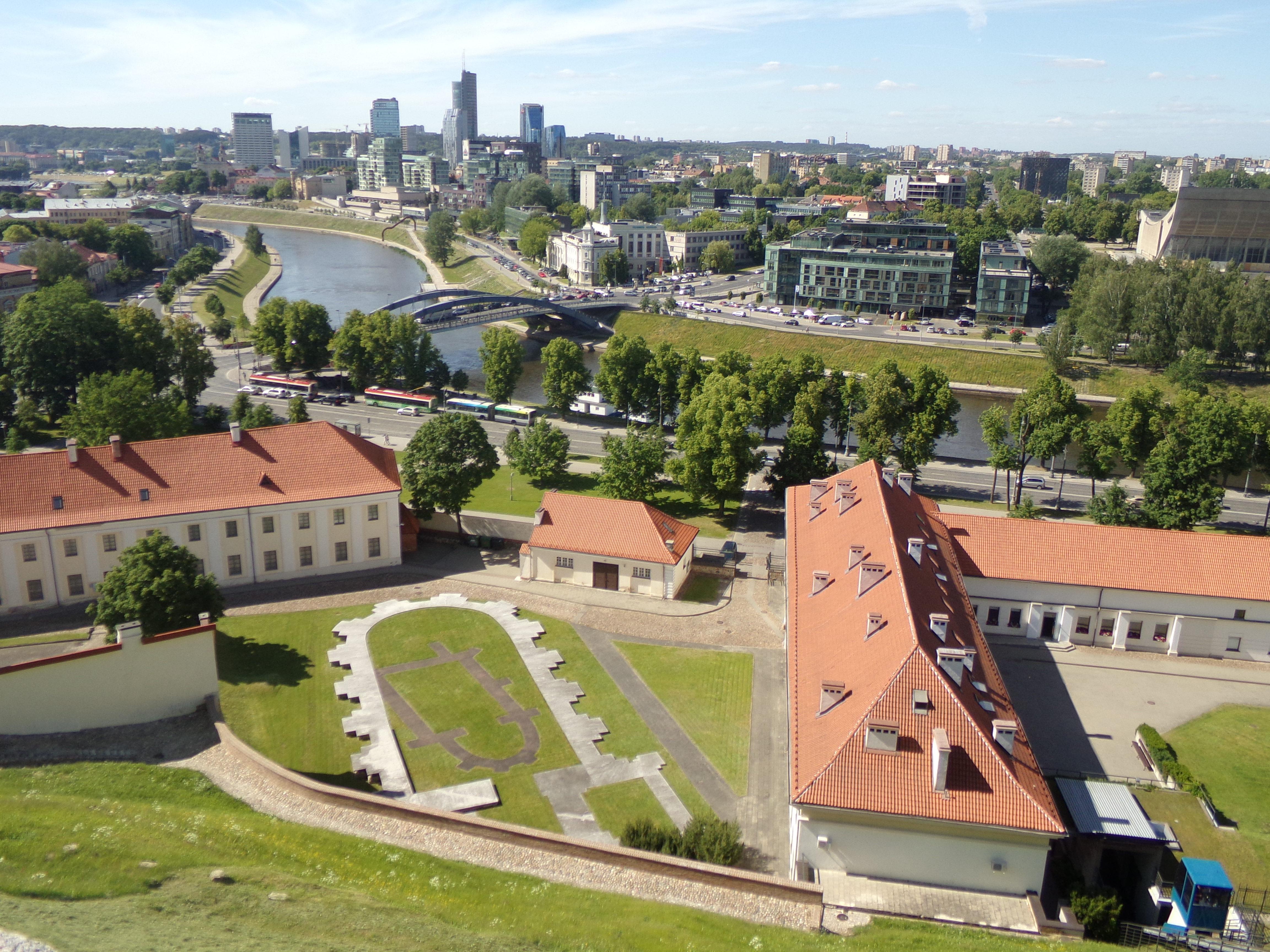 Blick von der Oberburg auf Vilnius