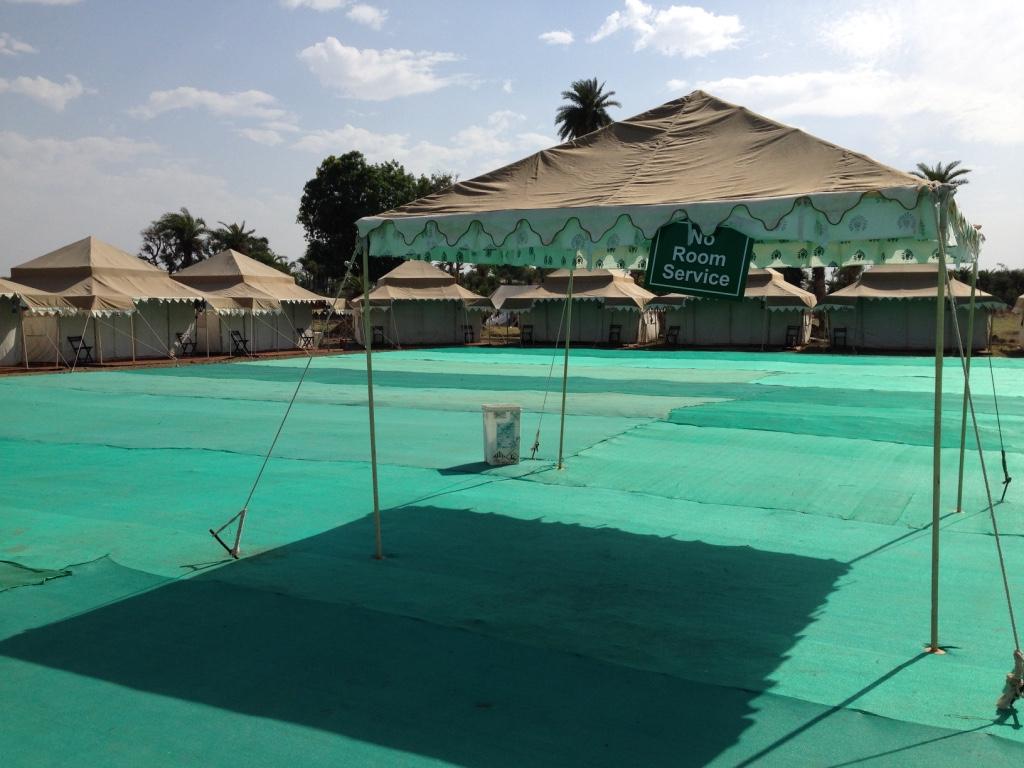 Unser Luxuscamp am Gau-Ghat in Ujjain