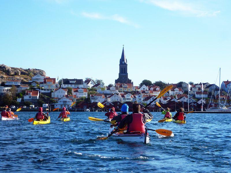 Westschweden ist ein Paradies für Freunde des See-Kajaks. Nur noch ein paar Meter bis zum Ziel