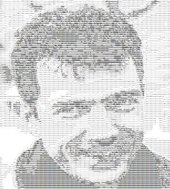 Porträt im ASCII-Code