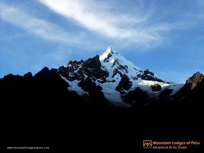 Der 6270 Meter hohe Salkantay, von dessen Basis man nach Machu-Picchu wandert