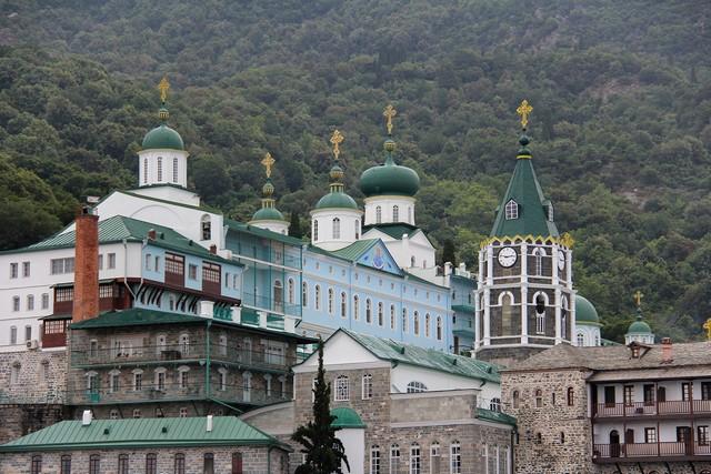 Das Kloster Aghios Panteleimon - Foto Wolfgang Weitlaner