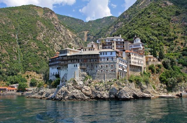 Kloster am Berg Athos (das ist nicht Iviron) - Bild: Wolfgang Weitlaner