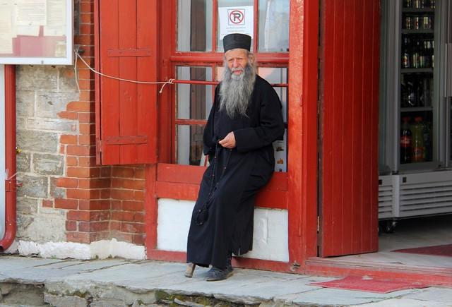 Ein Mönch im Kloster - Foto Wolfgang Weitlaner